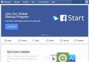 FB開発者登録start画面